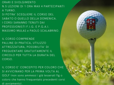 locandina corsi golf 2021